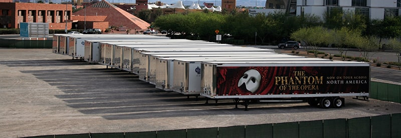 "Image of ""Phantom"" trailers in front of Smith Center loading dock."