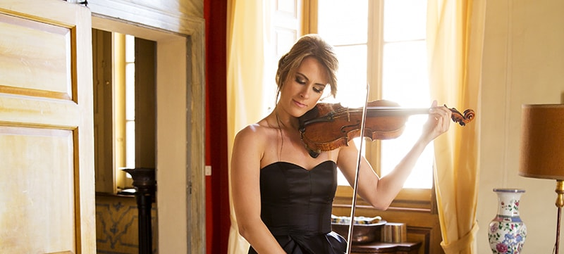 Acclaimed virtuoso Francesca Dego playing the violin