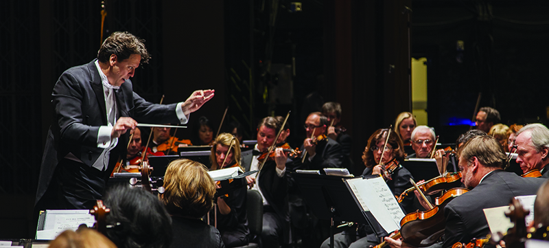 Donato Cabrera conducting the Las Vegas Philharmonic