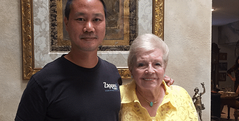 Tony Hsieh and Janice Allen