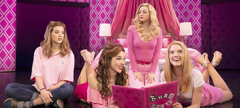 "Image of cast members from the Broadway musical ""Mean Girls"" on stage"