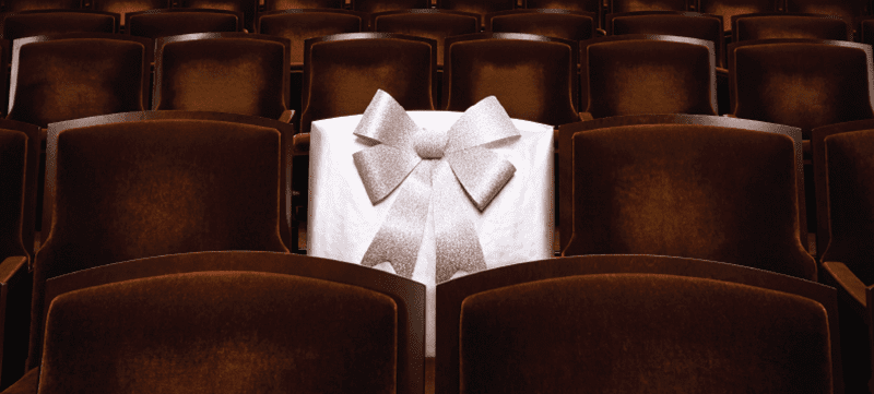 Gift-wrapped seat in Reynolds Hall