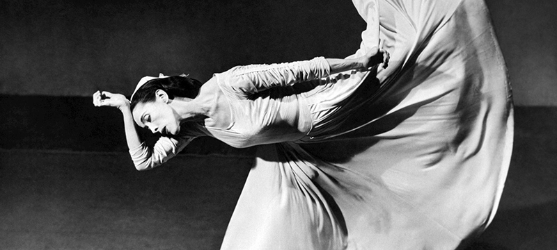 Martha Graham dancing