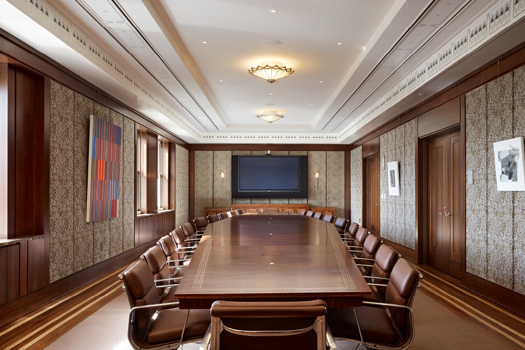 A photo of The Smith Center board room.