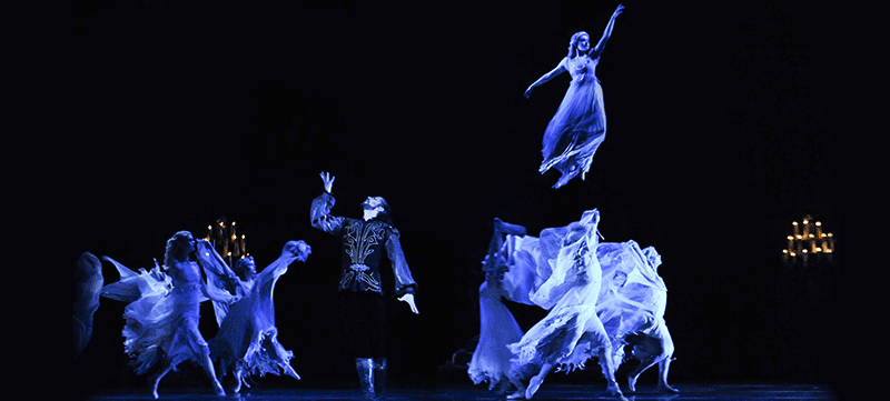 Ballet dancers on stage in 'Dracula'