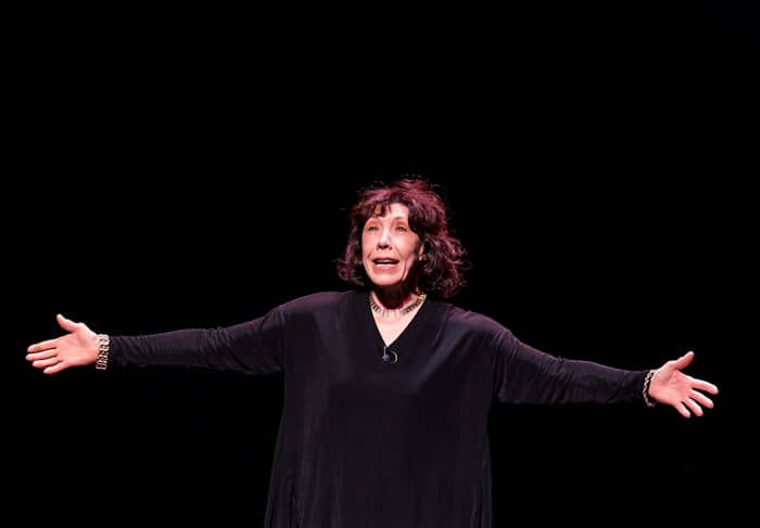 Lily Tomlin performing at The Smith Center