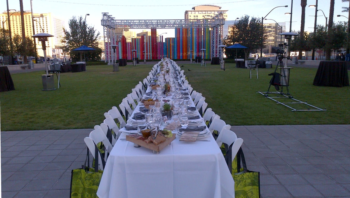 A photo of a catered event in Symphony Park