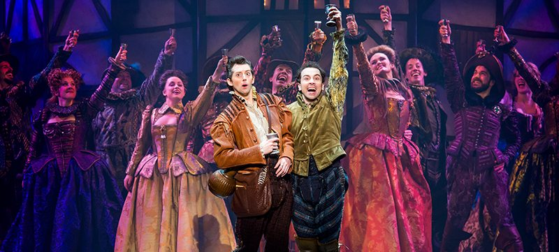 "Image of cast members on stage in the Broadway Las Vegas presentation of ""Something Rotten!"""