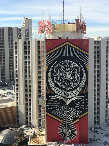 "A photo of the mural ""Cultivate Harmony"" by Shepard Fairey"